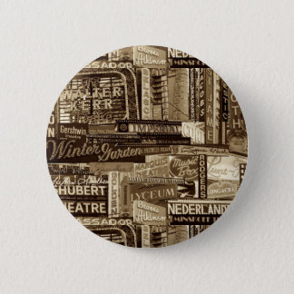 Broadway Pinback Button (Sepia)