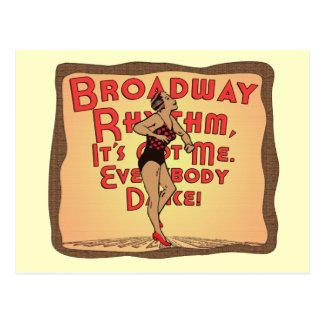 Broadway Rhythm Postcard