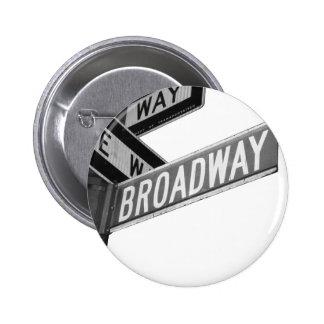 Broadway Sign 6 Cm Round Badge