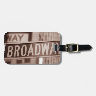 Broadway sign luggage tag