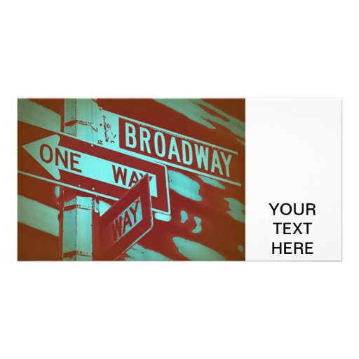 Broadway Sign Photo Greeting Card