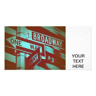 Broadway Sign Photo Greeting Card