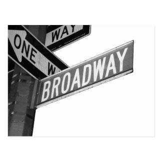 Broadway Sign Postcard