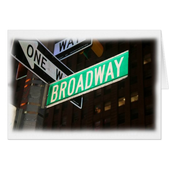 Broadway Street Sign Card