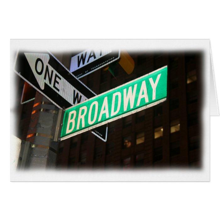 Broadway Street Sign Greeting Card