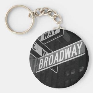 Broadway Street Sign Keychains
