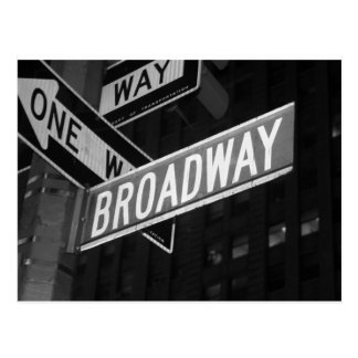 Broadway Street Sign Postcard
