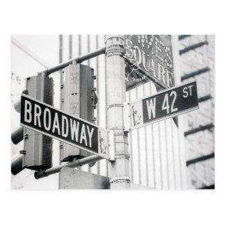 Broadway Times Square Postcard