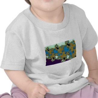 Brocade border Fractal T Shirts