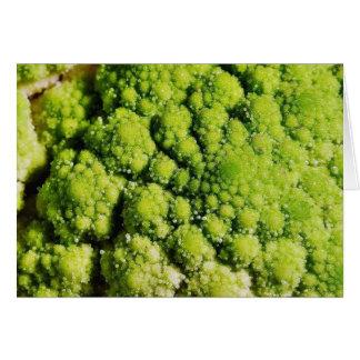 Brocco Flower Vegetable Greeting Card