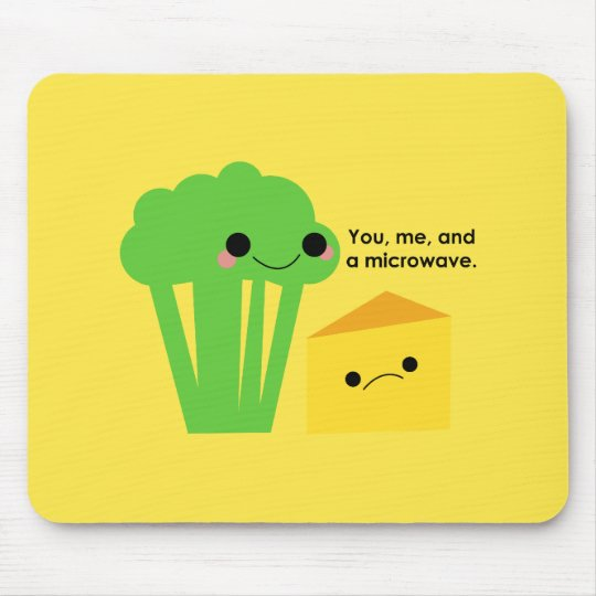 Broccoli and Cheese Mouse Pad