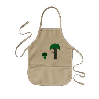 Broccoli are baby trees kids apron