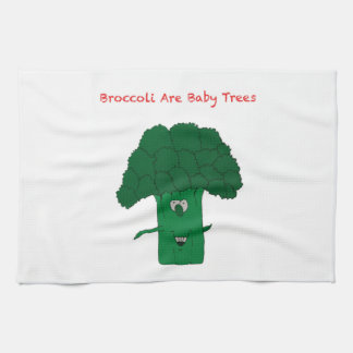 Broccoli are baby trees tea towel