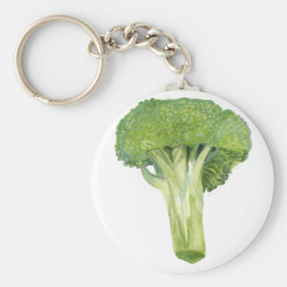 broccoli basic round button key ring