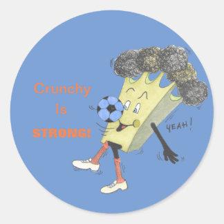 'Broccoli Bruno' Glossy Round Sticker