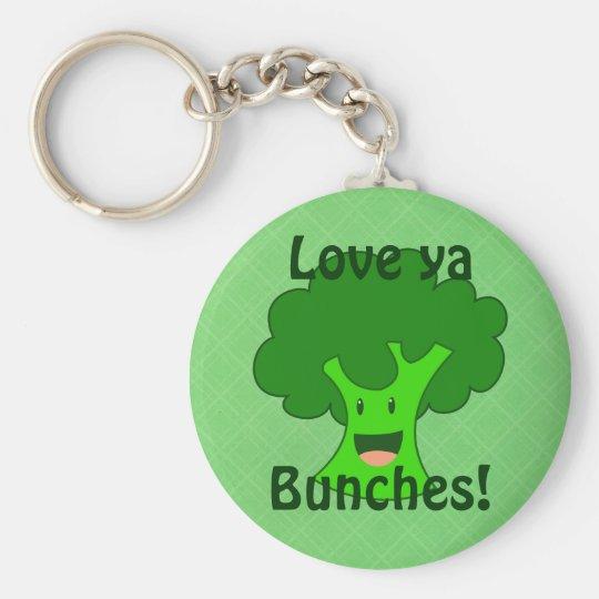 Broccoli Bunch Key Ring