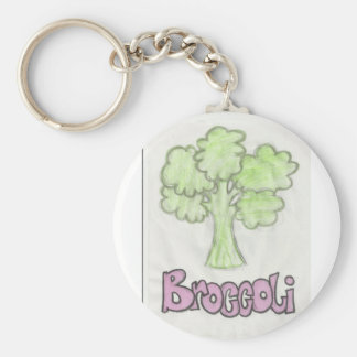 broccoli by imagining victoria basic round button key ring