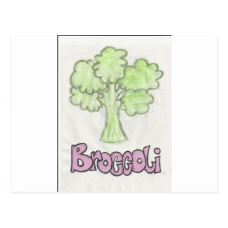 broccoli by imagining victoria postcard