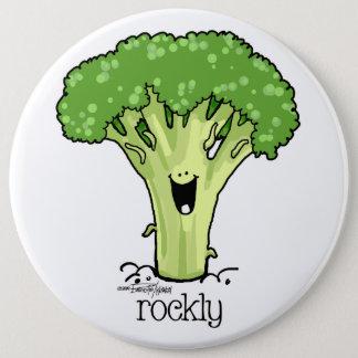 Broccoli Cartoon  Veggie button