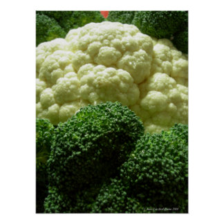 Broccoli & cauliflower poster