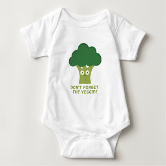 broccoli dont forget the veggies baby bodysuit