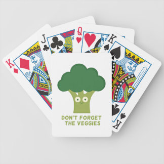 broccoli dont forget the veggies bicycle playing cards