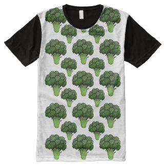 Broccoli Everywhere All-Over Print T-Shirt