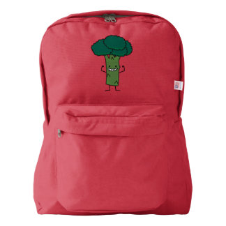 Broccoli Flexing happy tree head green vegetable Backpack