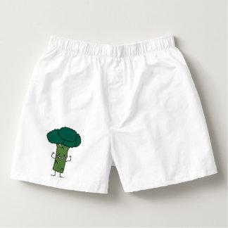 Broccoli Flexing happy tree head green vegetable Boxers