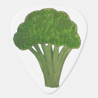 Broccoli guitar pick