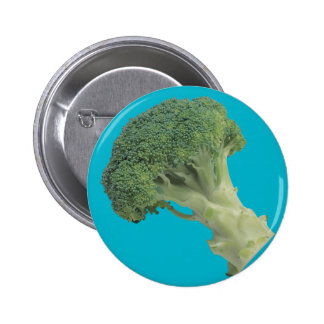 Broccoli Huge, 4 Inch Round Button