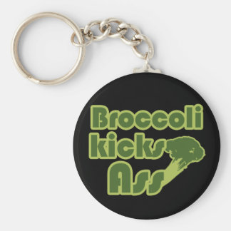 Broccoli Kick Funny Vegan Keychains