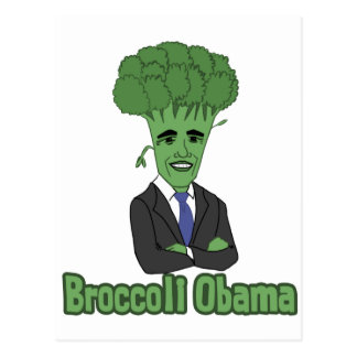 Broccoli Obama Postcard
