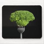 Broccoli on Black Mouse Pad
