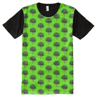 Broccoli Pattern All-Over Print T-Shirt