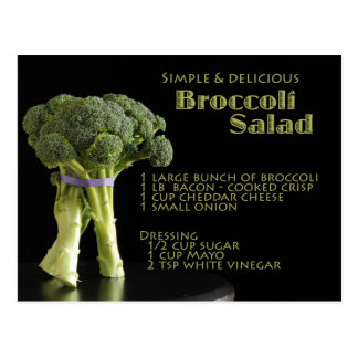 Broccoli Recipe Postcard
