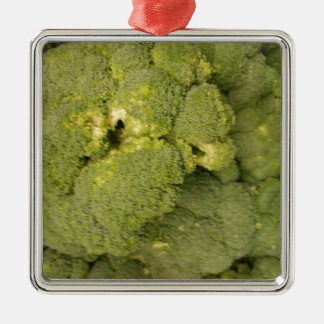 Broccoli Silver-Colored Square Decoration