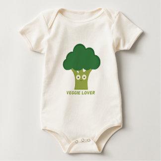 broccoli veggie lover baby bodysuit