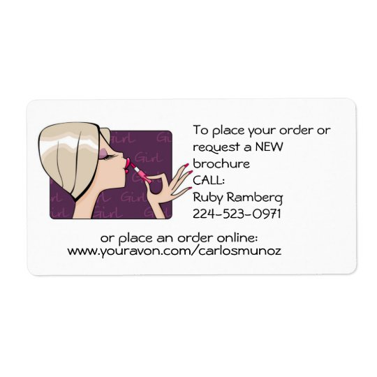 Brochure Stickers Shipping Label