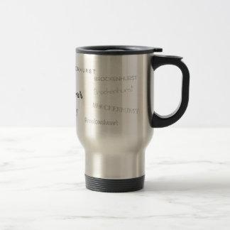 Brockenhurst Fonts Travel Mug