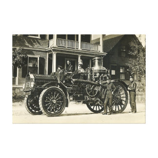 Brockton Fire Department Engine No 1 BFD Canvas Print