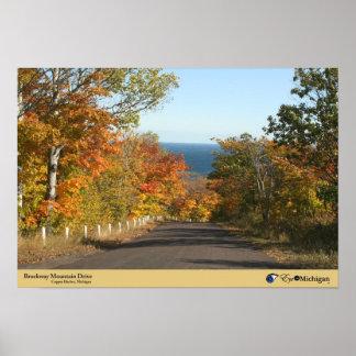 Brockway Mountain Drive - Copper Harbor, Michigan Poster
