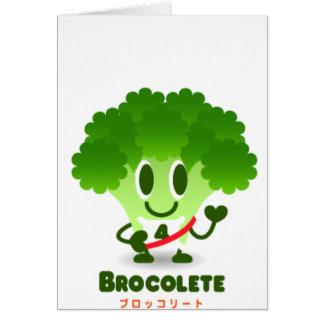 Brocolete Greeting Card