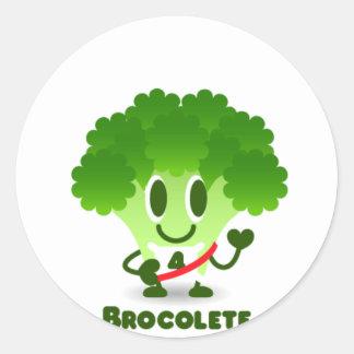 Brocolete Round Sticker