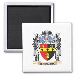 Broderick Coat of Arms - Family Crest Square Magnet
