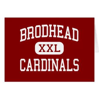 Brodhead - Cardinals - High - Brodhead Wisconsin Greeting Cards