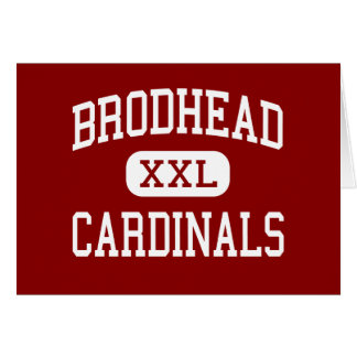 Brodhead - Cardinals - Middle - Brodhead Wisconsin Greeting Cards
