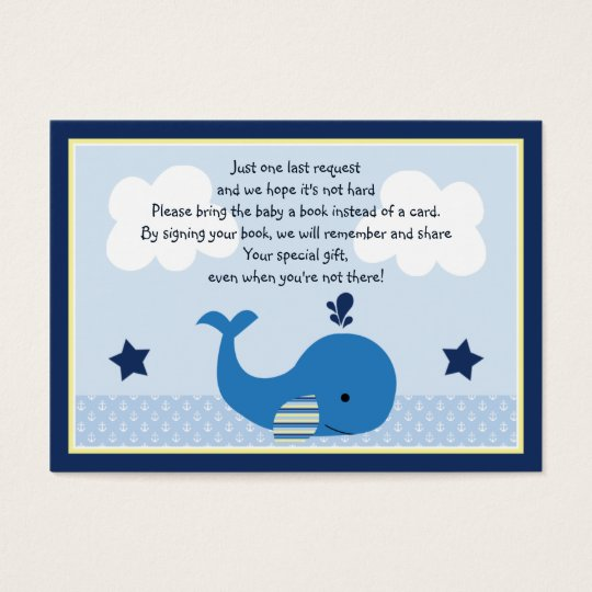 Brody Whale Book Request Card