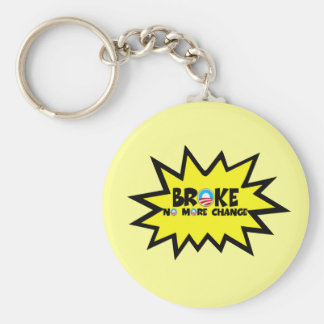 Broke,no more change anti Obama Basic Round Button Key Ring