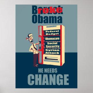 Broke Obama Poster